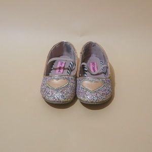Glittery Pink Flats